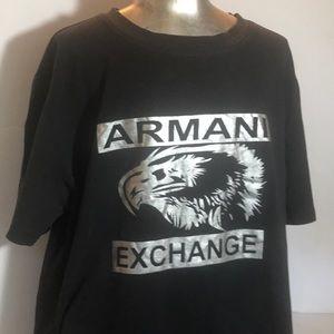 """EMPORIO ARMANI"" Logo Black Cotton T Shirt."